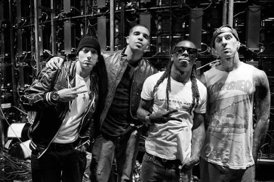 Eminem, Lil Wayne, Drake - Drop The World & Forever remix Live at Grammy 2010